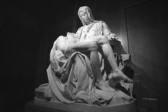 GFX 3563 Pieta bw (reed.john51) Tags: sacredheart pieta sculpture mary blackandwhite monochrome michaelangelo statue