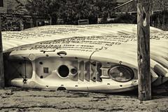 Kayaks (PAJ880) Tags: kayaks beach provincetown ma mono cape cod bw boats signage