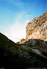 La passe (Ludtz) Tags: ludtz vercors plateauduvercors drôme 26 alpes alps rhônealpes montagne mountain mountains montagnes cliff falaises fontdurle rock rocher rocks rochers sky ciel cloudsstormssunsetssunrises plateau eté summer mamiya mamiyapresssuper23 sekor50|63 negative film mediumformat moyenformat 6x9 sunset coucherdesoleil passe path kodak kodakektar100 télémétrique télémètre rangefinder