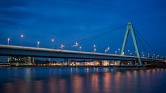 Severins Bridge (Bastian.K) Tags: zeisszm35 35mm 14 cologne köln deutschland germany german bridge stay cable stayed schrägseil schrägkabel rhein rhine river city stadt cathedral
