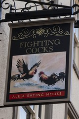 """The Fighting Cocks, Durham (newpeter) Tags: durham """"county durham"""" """"durham cathedral"""" north east england st cuthbert castle river wear pub publichouses inns beer ale signs realale badges pubsigns"""