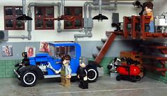 1918 Cadillac Type 57 Victoria (_Pixeljunkie_) Tags: lego cadillac moc afol garage minifigure