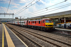 90018 - Peterborough - 26/07/18. (TRphotography04) Tags: db cargo uk on hire lner 90018 the pride bellshill arrives peterborough working 1d17 1403 london kings cross leeds