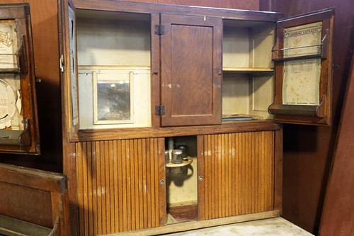 Oak Hoosier Kitchen Cabinet ($280.00)