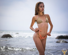 Golden Ratio Composition Venus! Pretty Swimsuit Bikini Model Goddess! Tall, Thin, Fit Fitness Model! Sony A7 R & Carl Zeiss Sony Sonnar T* FE 55mm f/1.8 ZA Lens! Sexy Hot Bokeh! Malibu Beach Pink Bikini  Photoshoot! Pretty Lifestyle Portraits! Beautiful! (45SURF Hero's Odyssey Mythology Landscapes & Godde) Tags: thin sexy hot gorgeous beauty sexiest hottest pink bikini long legs photoshoot portraiture pretty portrait brunette abs fit fitness tall