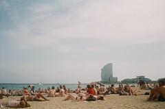 Lazing On A Sunny Afternoon (APar93) Tags: olympus trip 35 35mm barcelona barceloneta beach sea sand