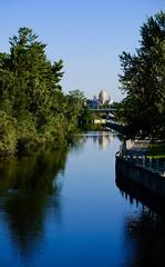 Rideau Canal calm (joanneclifford) Tags: ontario ottawa fujifilmxt20 canal ukrainiannationalcatholicshrine stjohnthebaptist ducks water hogsback rideaucanal