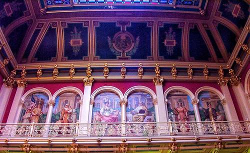 Des Moines Iowa - Iowa State Capitol - Interior Murals Dome - Rotunda