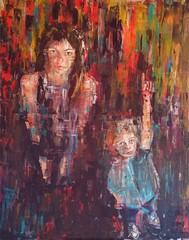 """It was her!"" Acrylic on canvas 100 x 80 cm (Jutta Richter) Tags: acryl acrylic painted portrait malerei art contemporary zeitgenössisch juttarichter"