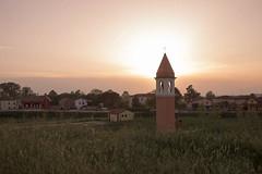 il campanile di Rivà (paolotrapella) Tags: rivà arianonelpolesine italia campanile controluce rosa