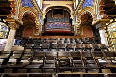 The Jubilee Seats (henriksundholm.com) Tags: interior architecture seats chairs organ instrument arcade columns synagogue church jubiléesynagogue prague czechrepublic hdr