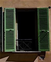 A Room With Green Shutters (Professor Bop) Tags: wroughtiron railing window shutters building room house montmartre parisfrance professorbop drjazz olympusem1 urban streets green mosca