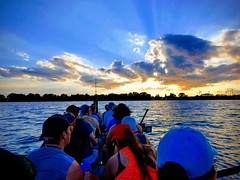 Tonight's sunset.  I love this sport.  Truly.  To move the world we must first move ourselves.  Come move with us this week!  Try us out for free!  Sign up on Meetup: Orlando Dragon Boat Club.  Next practice is Tuesday, 8/7/18.  #orlandohealth #orlandodra (Devilina07) Tags: practice florida exercise paddle dragonboat paddlesup newbies fitness orlando standuptocancer orlandohealth meetup teamworkmakesthedreamwork greatoutdoors sundayfunpaddle festival team community boat friends centralflorida outdoors aframe workout teamwork healthy teambuilding sport watersport orlandodragonboatclub