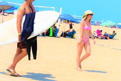 Surf beach (thomasgorman1) Tags: people beach woman man surfer surfing sand ca malibu surfboard shore bikini sky outdoors candid