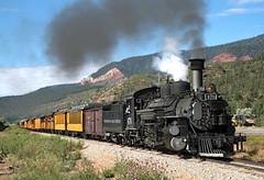 Second Silverton Train (jterry618) Tags: 845amsilvertontrain alcoschenectady1923 americanlocomotivecompany colorado drgw476 drgw476dsng476 denverriograndewestern durangosilvertonnarrowgaugerailroad hermosa k28282 durango unitedstates us