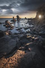 Cap d' Agde (Mathulak) Tags: agde cap occitanie mathulak seascape sun hole rocks
