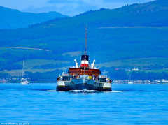 Scotland West Highlands the paddle steamer Waverley sailing through Argyll 24 June 2018 by Anne MacKay (Anne MacKay images of interest & wonder) Tags: scotland west highlands sea clyde paddle steamer waverley sailing argyll trees mountains landscape 24 june 2018 picture by anne mackay