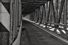 Border between light and shadow  #bridge #structure #metallic #shapes #light #shadow #border  #road #empty #perspective #line #monochrome #blackandwhite #photography #canoneos1300d (Adi Istrate) Tags: border shadow line structure metallic empty blackandwhite light road shapes monochrome perspective canoneos1300d bridge photography