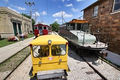 Crowded yard (Laurence's Pictures) Tags: east troy electric railroad museum wisconsin train trolley interuban milwaukee light we energy railfan days chicago south shore bend csssb