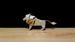 狮子——小松英夫 (guangxu233) Tags: lion origami origamiart paper art paperart paperfolding hideokomatsu 折纸 折り 折り紙作品