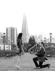 Proposal! (Evan.Quinn) Tags: weddings marriage proposal sanfrancisco pier 7 romantic canon 5d 5dclassic foggy city love mk1 weddingphotographer surprise engagement weddingring ring knee classic