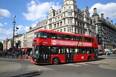 NS zet bussen in (2) (Maurits van den Toorn) Tags: bus autobus stadsbud dubbeldekker doubledecker tfl london routemaster ns abellio rood rot rosso rouge red