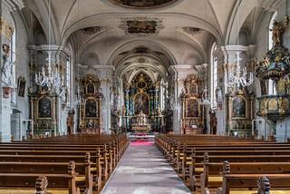 Schwarzwald Impressionen -  Waldkirch Stiftskirche St. Margaretha 918/1734