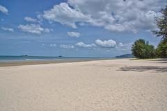 Suanson beach near Hua Hin, Thailand (UweBKK (α 77 on )) Tags: suan son suanson beach sand water sky blue clouds white trees hua hin huahin prachuap khiri khan province thailand southeast asia sony alpha 77 slt dlsr