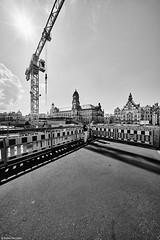 Dresden b&w 4 (rainerneumann831) Tags: dresden kran baustelle architektur bw blackandwhite ©rainerneumann