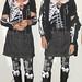 20171201 - fashion show - Clio - skull shirt, denim skirt, gothic cross leggings - 19.11.03-diptych-10.496