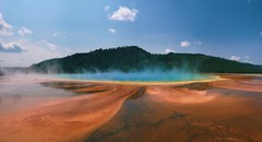 Grand Prismatic Spring (mlee525) Tags: landscape grandprismaticspring yellowstonenationalpark pano iphone nature yellowstone