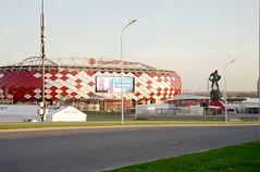 Otkritie Arena ( FC Spartak Moscow Stadium) / Открытие Арена (IvanKulagin) Tags: film 35mm canon7 jupiter3 moscow fujifilm пленка плёнка юпитер3 москва