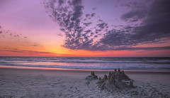 Sand Castle Sunrise..... (Kevin Povenz Thanks for all the views and comments) Tags: 2018 june kevinpovenz northcarolina corolla atlanticocean ocean atlantic sunrise sun clouds water waves sand beach outside outdoors morning morningsky early earlymorning canon7dmarkii