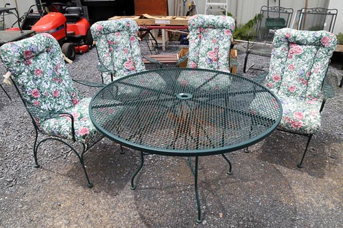 Patio Table and Four Cushioned Chairs ($168.00)