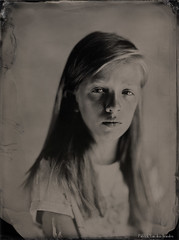 """Milena"" (patrickvandenbranden) Tags: 18x24cm 8x10 alternativeprocess ambrotype bw blackandwhite collodion collodionhumide cookeaviar320 fineart largeformat monochrome noiretblanc portrait procédéalternatif wetplate childhood girl"