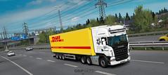 Testing new graphics mod [ETS2] (gripshotz) Tags: scania r500 6x2 v8 euro 4 arkadia transport romania vak trailer dkl scandinavia truck simulator ets 2 intercargo