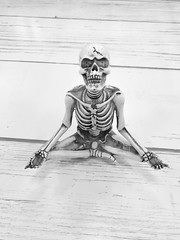 Yoga Pose (Cindy's Here) Tags: yogapose skeleton bw iphone 118 58