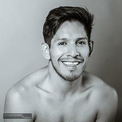 Carlos V (FrameChaser) Tags: male model bw blackandwhite handsome chair studio portrait fineart splittoning posing d850 85mm guy