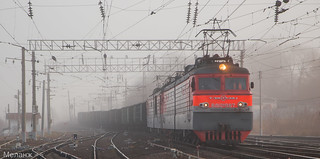 ВЛ10У-987, станция Кашира -Пассажирская, Московская область
