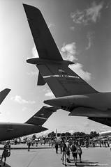 Whale Tales (dpsager) Tags: 2018 airventure bw dpsagerphotography eaa eaaoshkoshairshow eos1v film kodak lockheedc5galaxy oshkosh portra400bw wisconsin aircraft airplane airshow osh18
