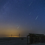 Perseid Meteor Shower Over An Abandoned Outhouse thumbnail