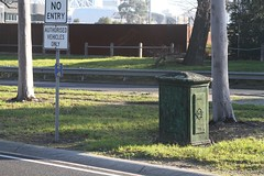 Melbourne City Council Electricity Supply Department (MCCESD) pillar box on Batman Avenue (Marcus Wong from Geelong) Tags: domaintunnel melbourne road freeway motorway citylink