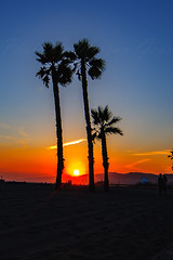 35 (morgan@morgangenser.com) Tags: sunset red orangeyellow blue pretty cloud silhouette sun evening dusk palmtrees bikepath sand beach santamonica pacificpalisades beautiful black dark cement amazing gorgeous inawe ca photobymorgangenser