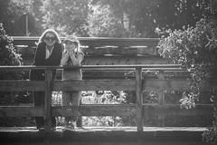 Mother and daughter (MortenTellefsen) Tags: 2018 august sandnes mother daughter monochrome blackandwhite bw bnw bridge svarthvitt mor barn bro summer sommer norway norwegian