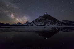 Bow Lake Milky Way (Bun Lee) Tags: bowlake canadianrockies landscape rockymountain rockymountains alberta astrophotography banffnationalpark bunlee bunleephotography canada galactic galaxy longexposure milkyway mountains nature night nightskies nightsky nightscape nightscapes rockies stars water field