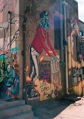 (dvlmnkillatron) Tags: 35mm canonet film kodak portra canon urbana canonetql17iii analog selfdeveloped portra400 graffiti mural