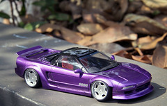 Honda NSX type R (vitaraman) Tags: honda nsx type r tamiya aoshima ssr sp1 metallic violet recaro stanced wide body rocket bunny scratchbuild engine cover oz opera