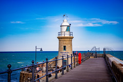 Awesome place - Very romantic (Julie Greg) Tags: folkestone england nature sea colours canon lighthouse
