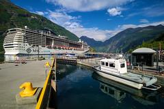 Geiranger - Norway (Frank Hoefliger) Tags: msc preziosa pilot boat cruise ship unicef geiranger fjord