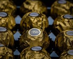 Ferrero Rocher (sasi.yamaha) Tags: ferrero rocher chocolate product photography yummy delicious golden wrapper crispy sweet flash magic